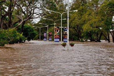 FOTOGALERÍA: La avenida costanera de Concordia bajo agua