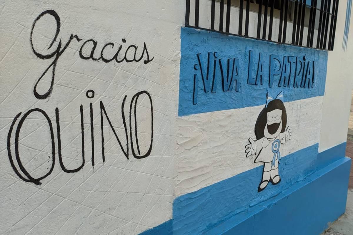 Los muros que rinden homenaje a Quino en Concordia