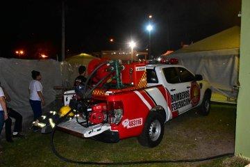 Se incendió un tablero eléctrico en el predio donde se desarrolla la Fiesta del Lago
