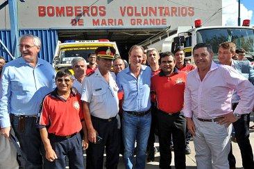 Bordet impulsará una ley que regule el trabajo de los bomberos voluntarios