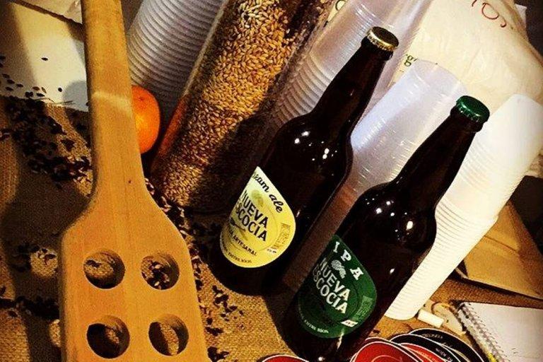 """Algunas de las presentaciones de la cerveza """"Nueva Escocia"""""""