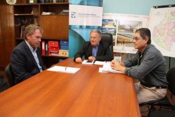 Galimberti se reunió con el ministro de Planeamiento provincial