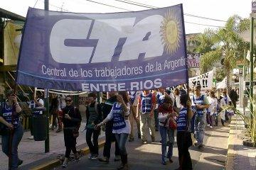 """Por la protesta policial la CTA Entre Ríos salió a rechazar """"la extorsión contra la democracia"""""""