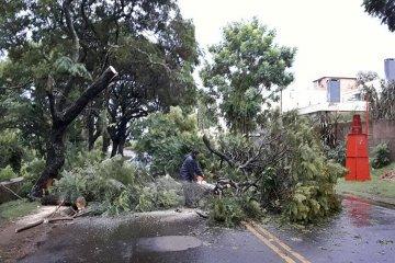 El temporal de este jueves se hizo sentir en la vecina orilla