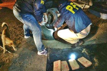 Intentaban ingresar a Concordia con 72 panes de marihuana ocultos en una rueda de auxilio