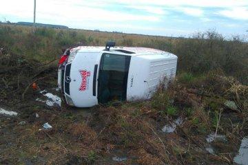 Perdió el control de la camioneta y volcó en cercanías de Chajarí