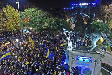 VIDEO: Los festejos boquenses en la plaza 25 de Mayo