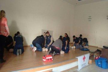 Personal de la Cruz Roja Concordia capacitó a los Bomberos Voluntarios en Villa del Rosario