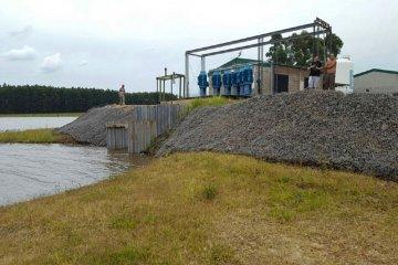 Se realizaron con éxito las pruebas de funcionamiento del sistema de riego de Villa del Rosario