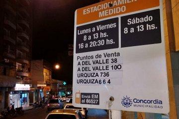 SEMANA SANTA: Liberan el Estacionamiento Medido en el micro centro de Concordia