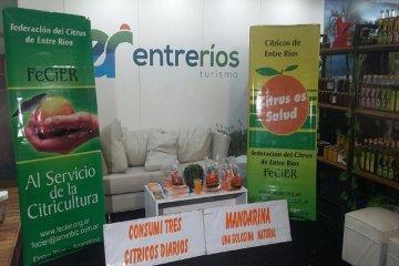 Citricultores participaron del stand entrerriano en la Sociedad Rural de Palermo