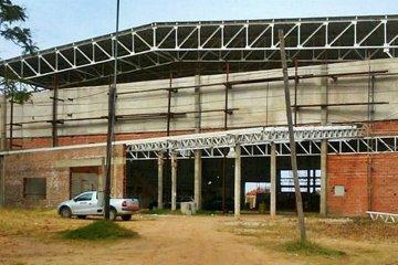Reactivaron la obra en el futuro gimnasio del Polideportivo