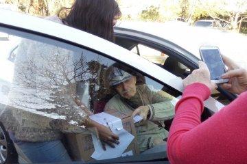Tiene 95 años y se montó un operativo especial para que pudiera esgrimir su voto