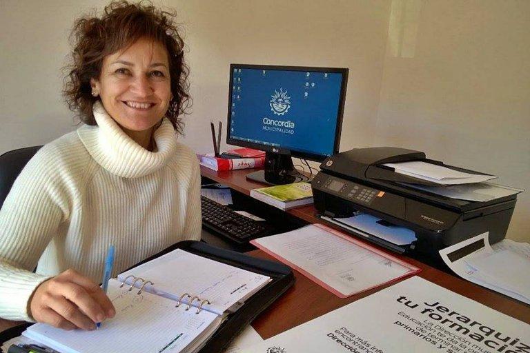 María Eugenia Sandri, ahora ex Directora de Educación