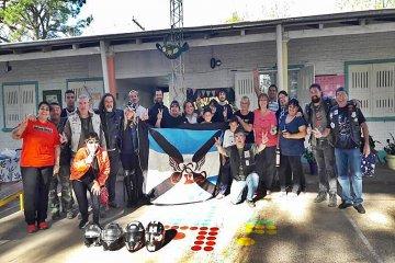 Moteros solidarios le cambiaron la cara a una escuela del departamento Concordia