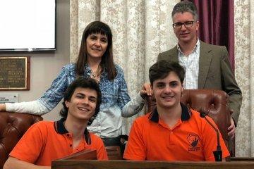 Los senadores juveniles por Concordia comenzaron su semana de trabajo