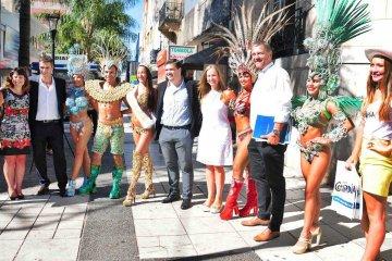 Concordia cruzó de orilla para promocionar su carnaval