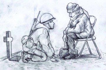 El dibujo de un entrerriano sobre Malvinas que se hizo viral en internet