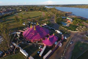 El Circo Tihany tuvo su debut en Concordia