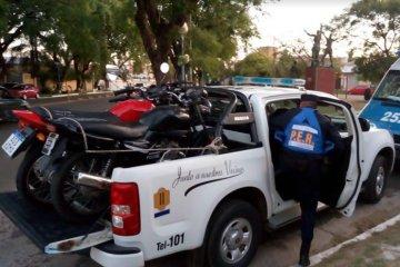 La policía recuperó tres motos que habían sido robadas