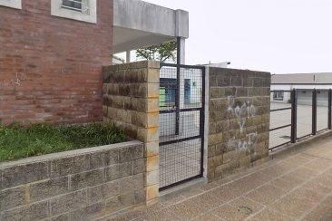 Saltó el muro de una escuela para tomar del cuello a una alumna y robarle un celular