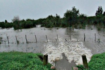 Las lluvias elevaron el nivel del alerta para el río Uruguay