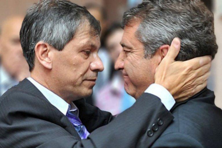 Los diputados Pedro Baez y Sergio Urribarri