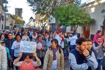 Concordia tuvo otra multitudinaria marcha en contra de la legalización del aborto