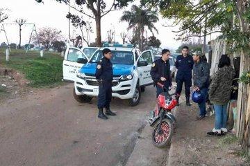 La policía recuperó una moto robada en 2017