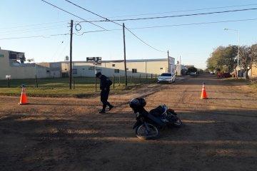 Una familia resultó lesionada tras accidentarse con su motocicleta