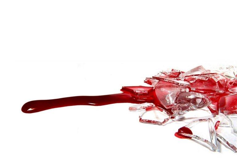 El malviviente se cortó con unos vidrios.