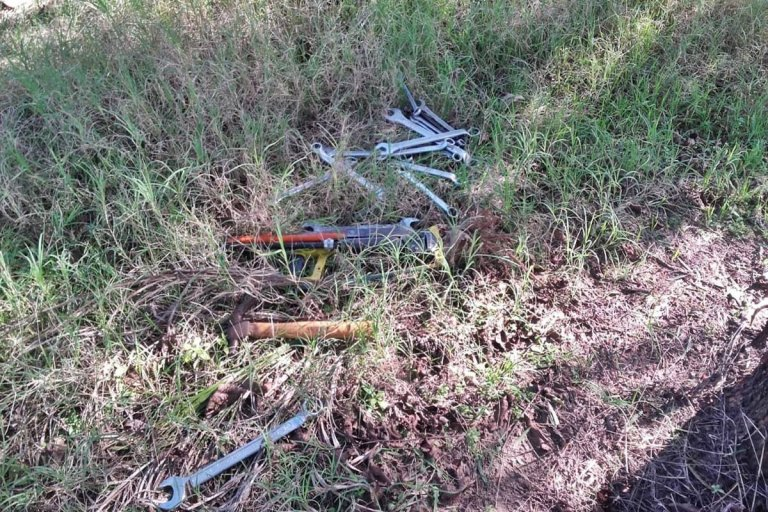Las herramientas fueron recuperadas y entregadas a su propietario.