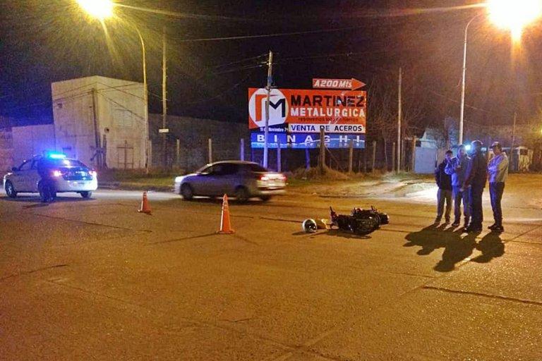 El impacto se produjo en la esquina de Lieberman y Gobernador Cresto.