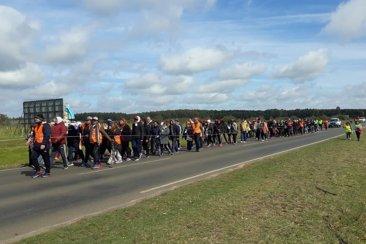 Cientos de peregrinos concordienses arribaron a la localidad de Federación