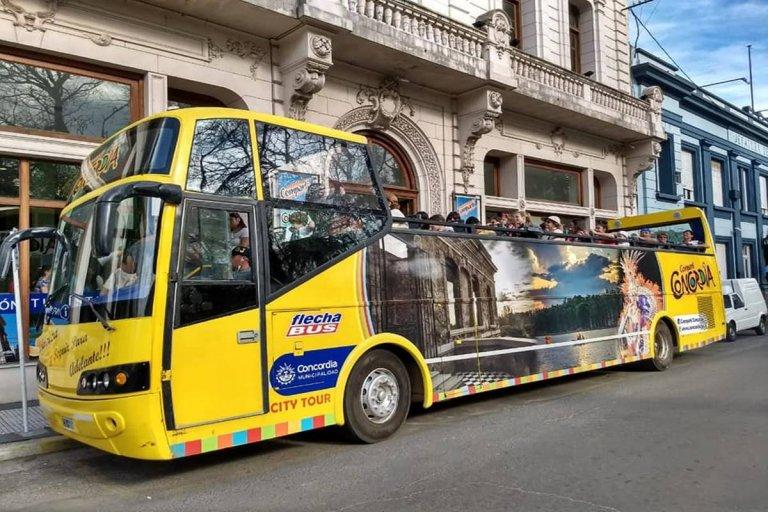 Muchos visitantes aprovecharon el recorrido guiado que realiza el bus turístico