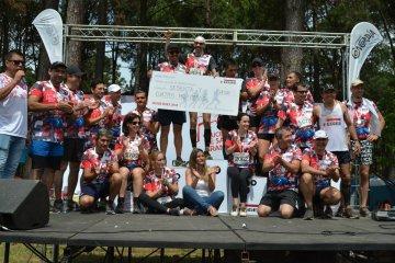 EGGER Runs recaudó más de 60 mil pesos en el Cruce Salto Grande para donar a Cáritas