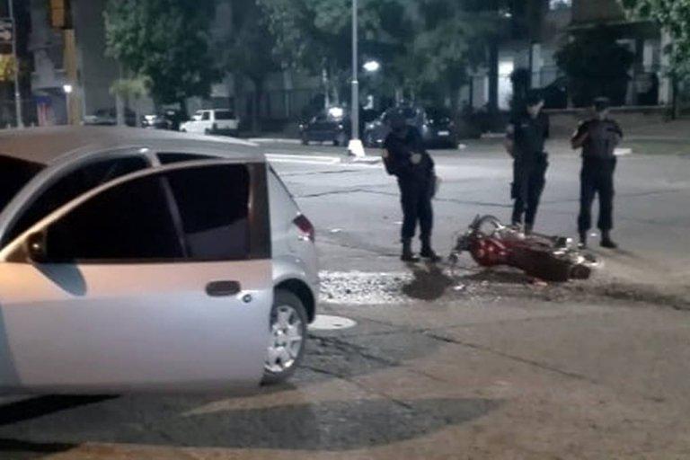 El accidente ocurrió en la esquina de San Lorenzo y Veiga