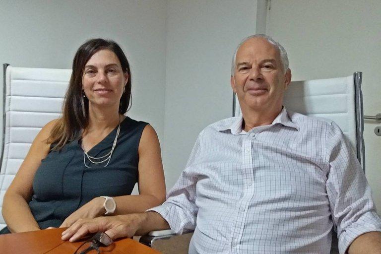 Paula y Mario Sborovsky, responsables del grupo Dilfer