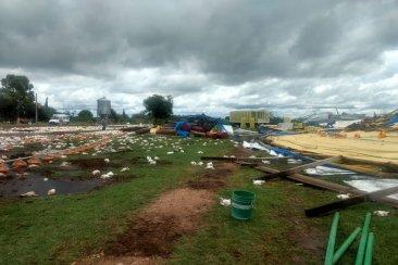 Un fuerte temporal causó grandes destrozos en el sur de la provincia