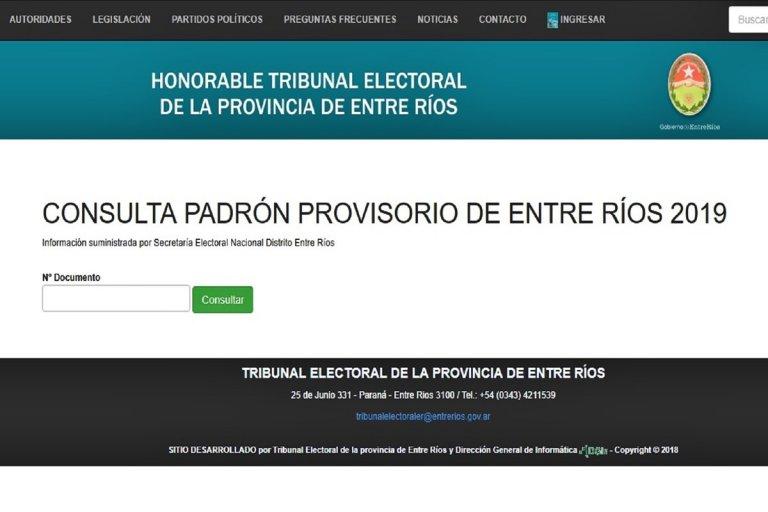 Se pueden chequear los datos personales, de cara a las elecciones 2019.