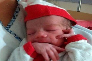 Brenda Valentina fue la primera bebé nacida en el departamento Federación