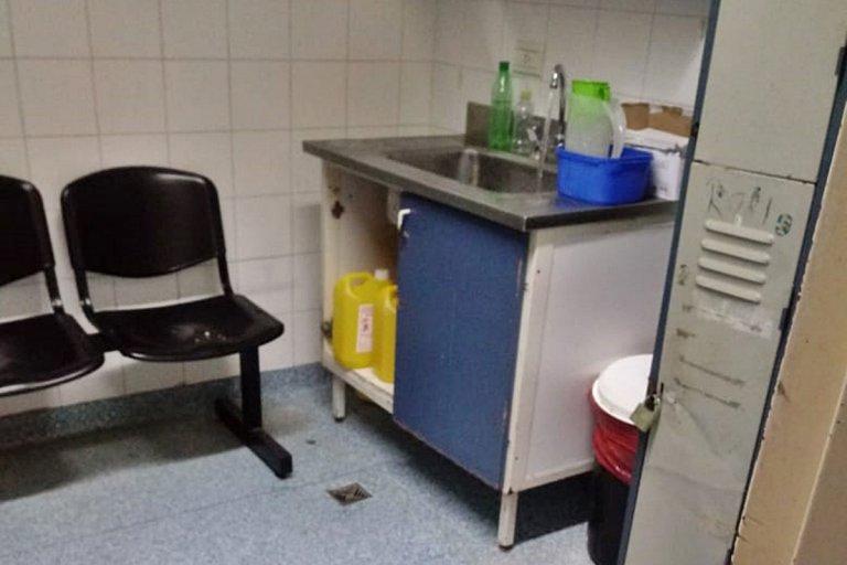 El incidente ocurrió en el área de urología del nosocomio.