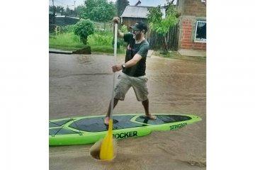 LLUVIA: En menos de doce horas cayeron casi cien milímetros de agua