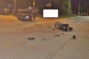 Un motociclista terminó con traumatismo de cráneo luego de protagonizar un accidente