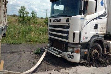 Un camión brasilero despistó en el norte entrerriano