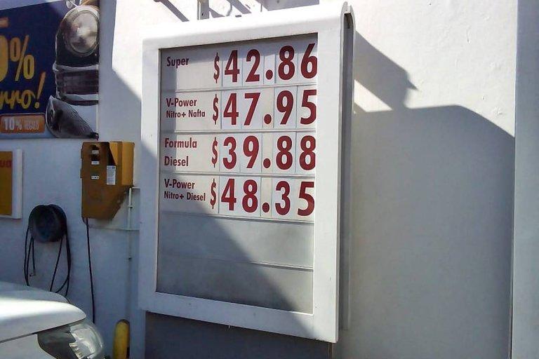 Los precios actualizados en una estación Shell de Concordia