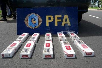 Secuestraron un cargamento de cigarrillos valuado en aproximadamente 30 mil pesos