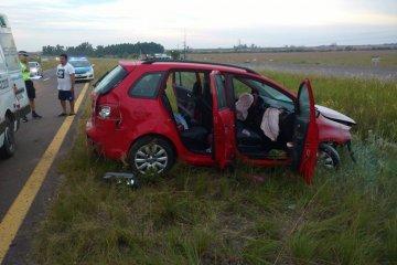 Una familia despistó en la autovía de la Ruta Nacional 14