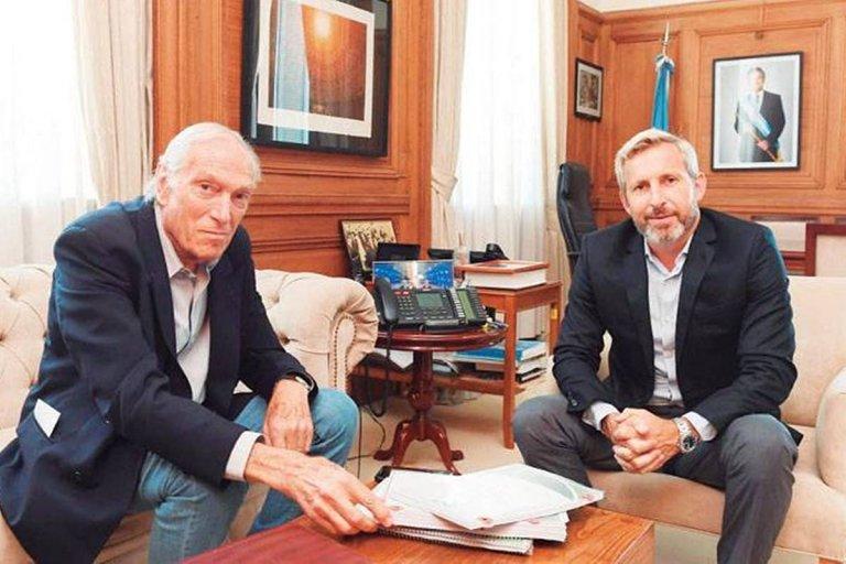 Rotman en su reciente reunión con Frigerio