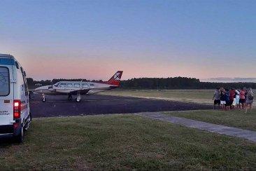 Un avión sanitario trasladó desde Concordia a una de las niñas accidentadas en la Ruta 14